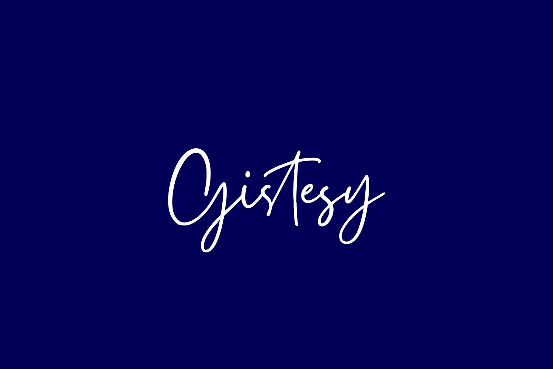 Gistesy Free Font