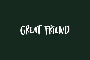 Great Friend Free Font