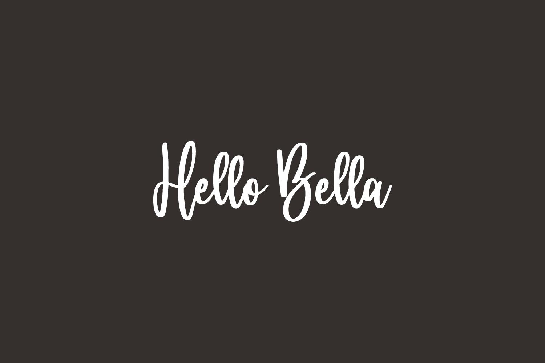 Hello Bella Free Font