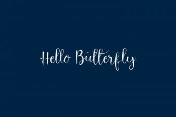 Hello Butterfly Free Font