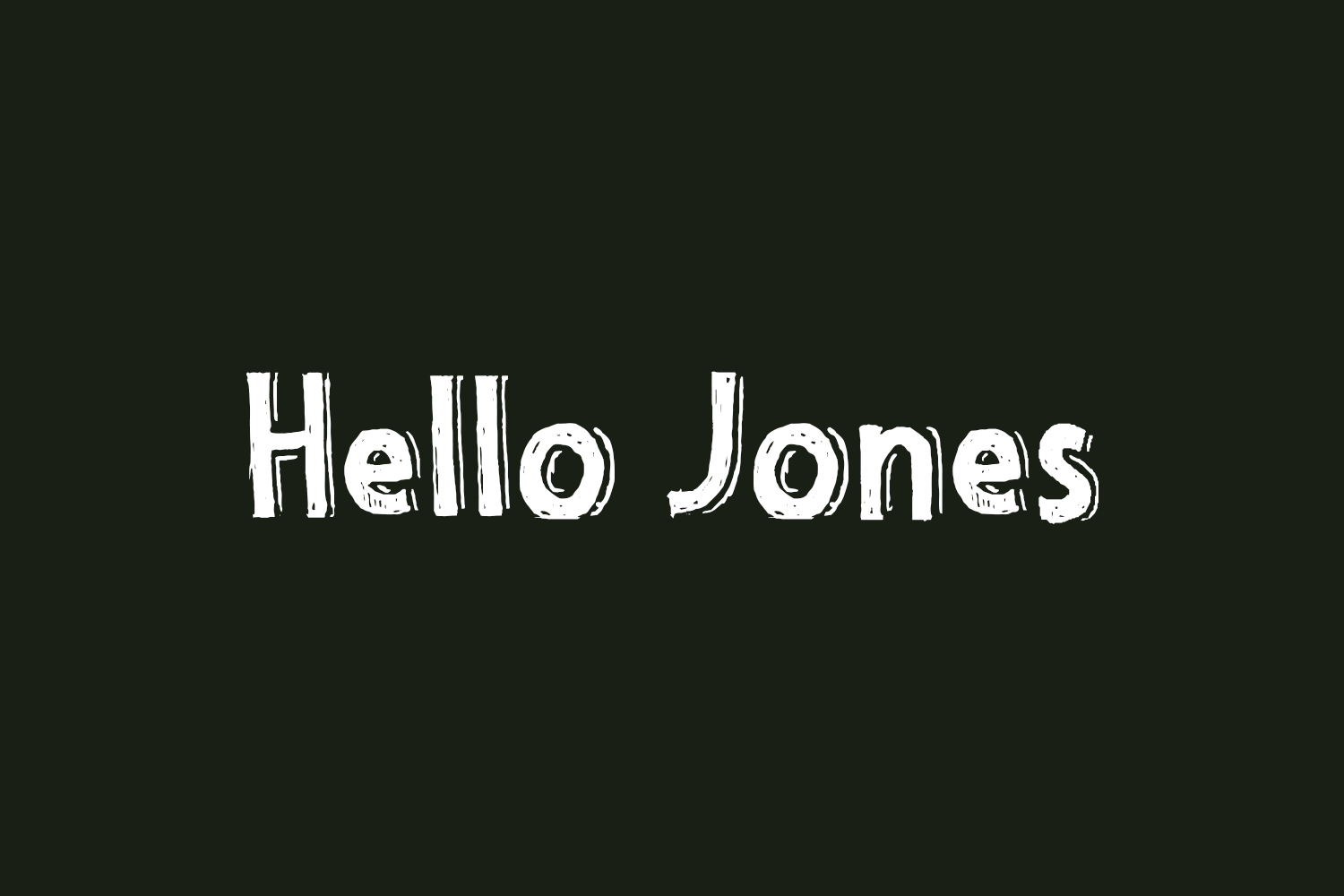 Hello Jones Free Font
