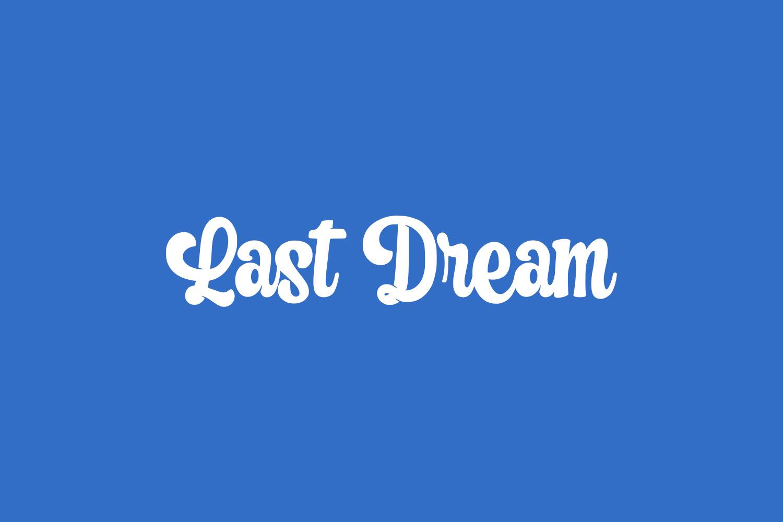 Last Dream Free Font