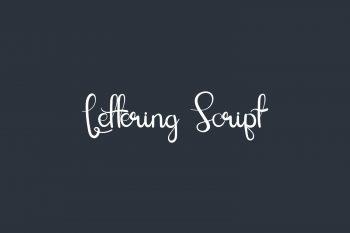 Lettering Script Free Font