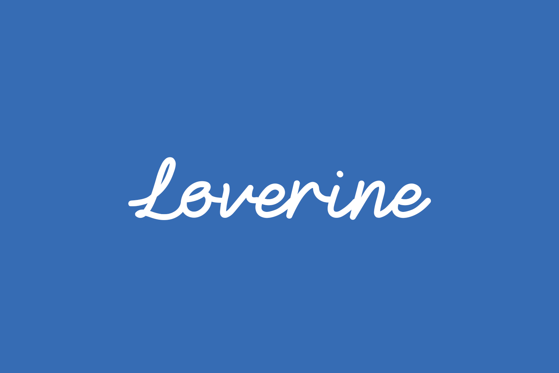 Loverine Free Font