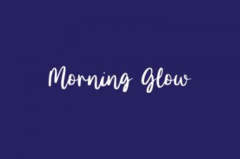 Morning Glow Free Font