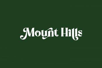 Mount Hills Free Font