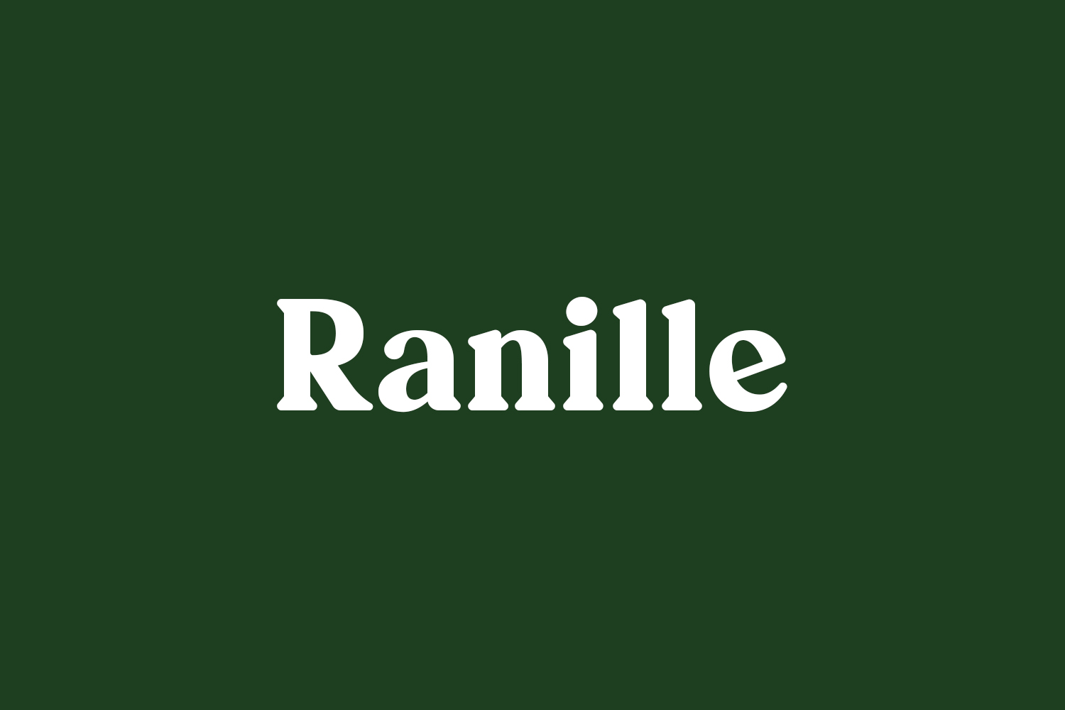 Ranille Free Font