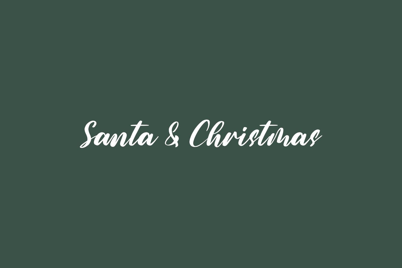 Santa & Christmas Free Font