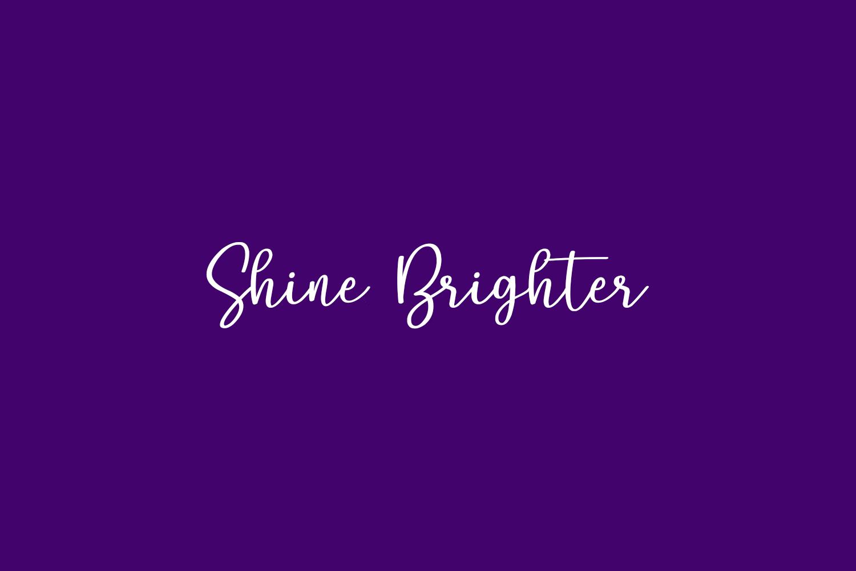 Shine Brighter Free Font
