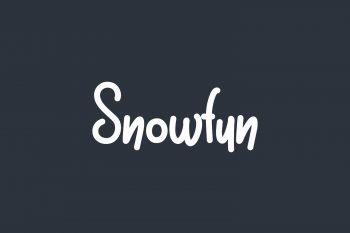 Snowfun Free Font