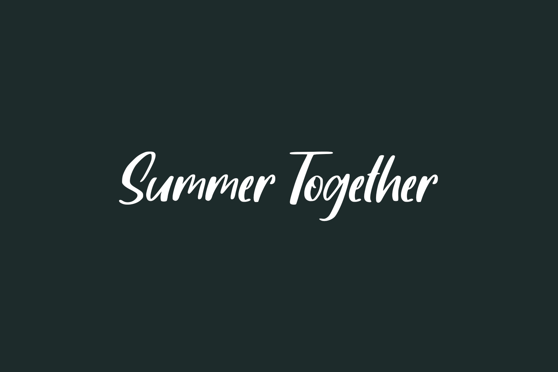 Summer Together Free Font