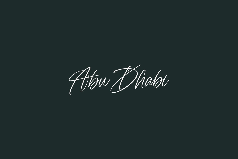 Abu Dhabi Free Font