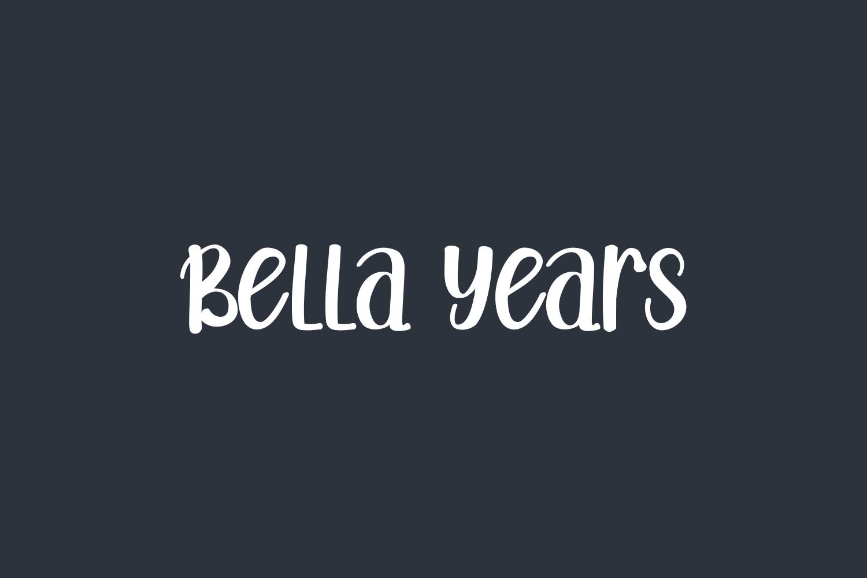 Bella Years Free Font