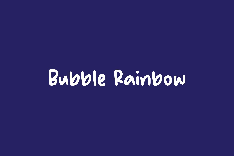 Bubble Rainbow Free Font