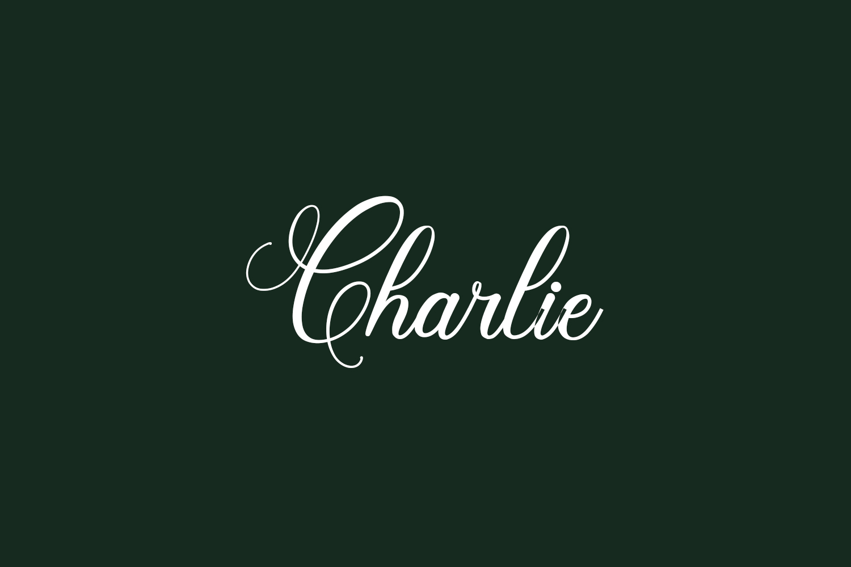 Charlie Free Font
