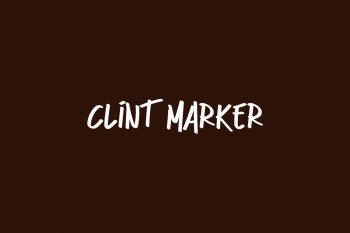 Clint Marker Free Font