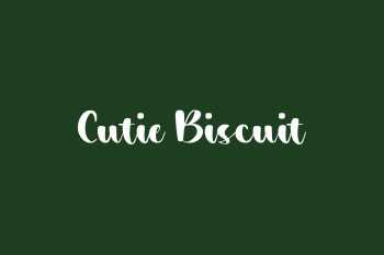 Cutie Biscuit Free Font