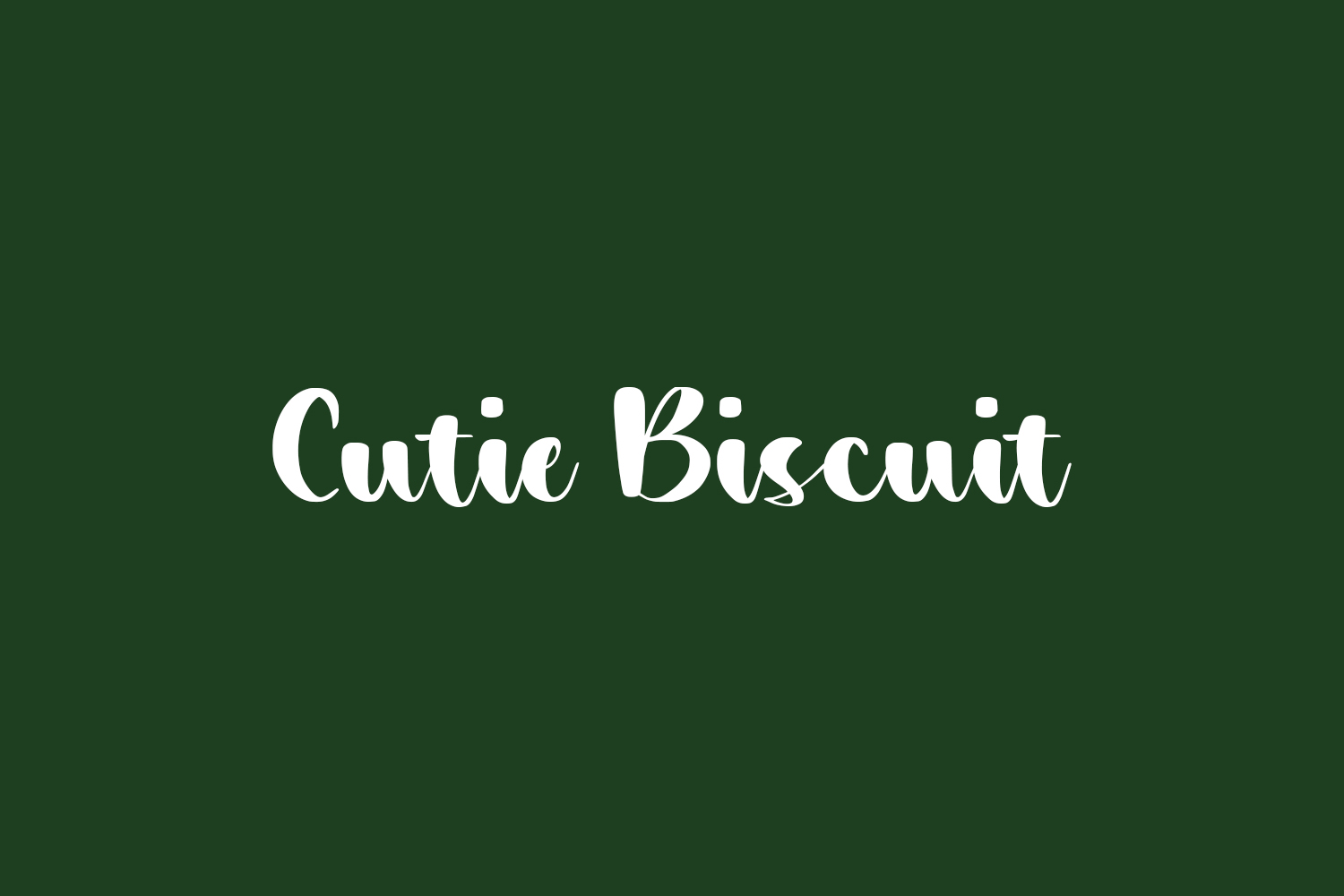 Cutie Biscuit Free Font