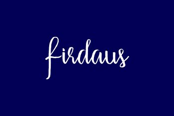 Firdaus Free Font