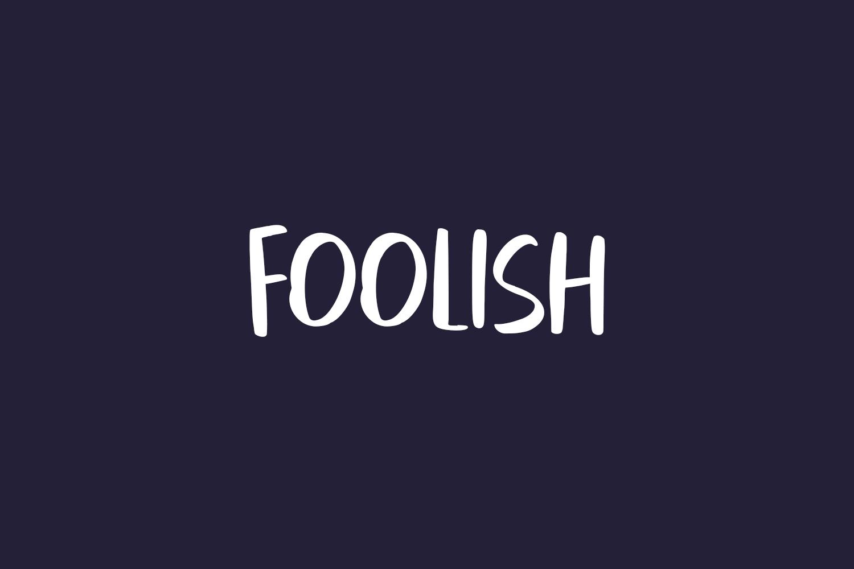Foolish Free Font