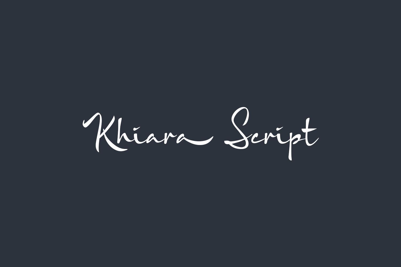 Khiara Script Free Font