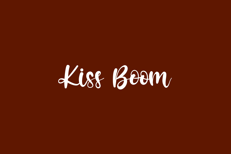 Kiss Boom Free Font