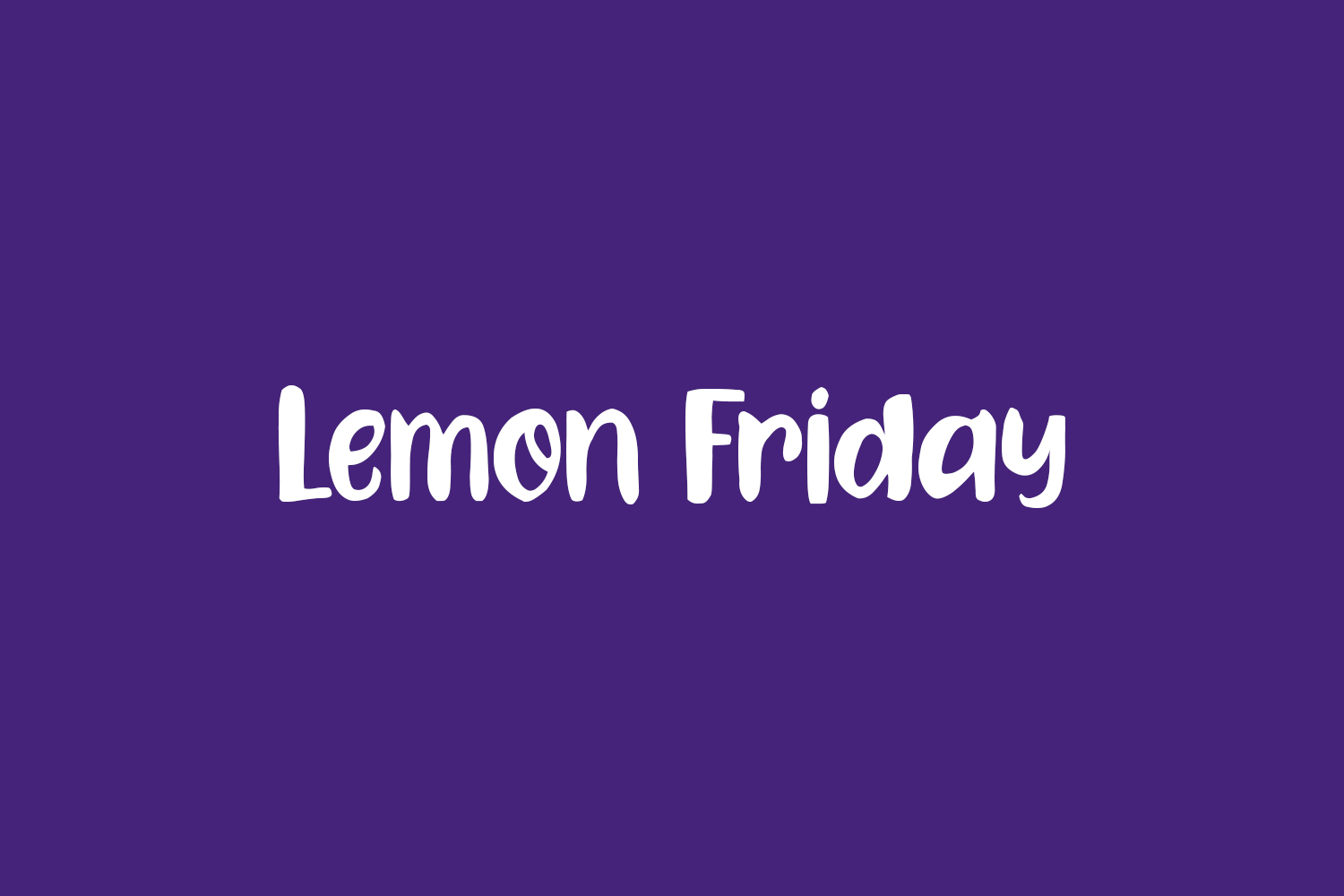 Lemon Friday Free Font