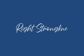 Right Strongline Free Font