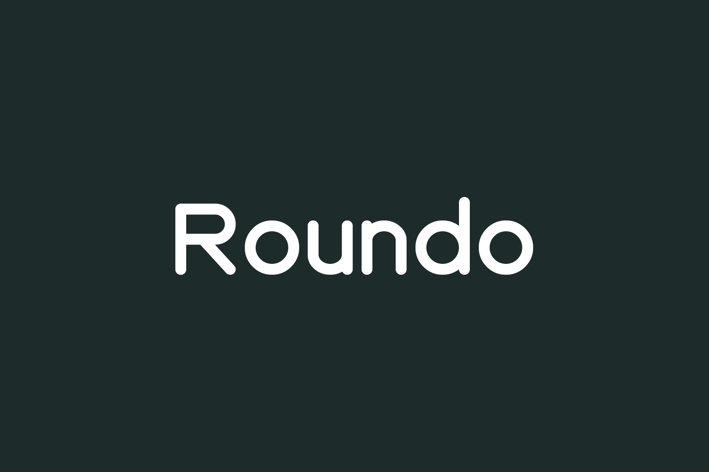 Roundo Free Font