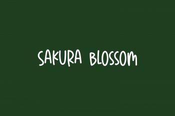Sakura Blossom Free Font