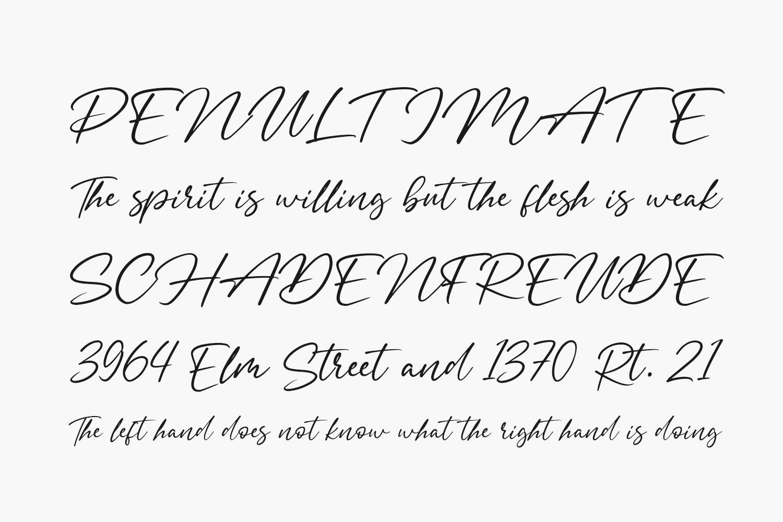 Signatria Free Font