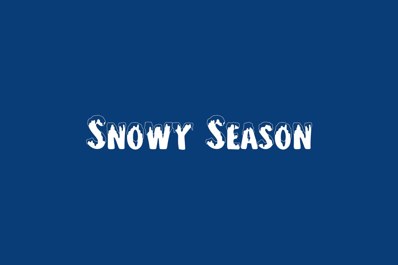 Snowy Season Free Font