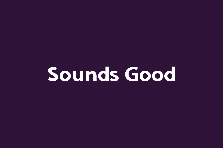 Sounds Good Free Font