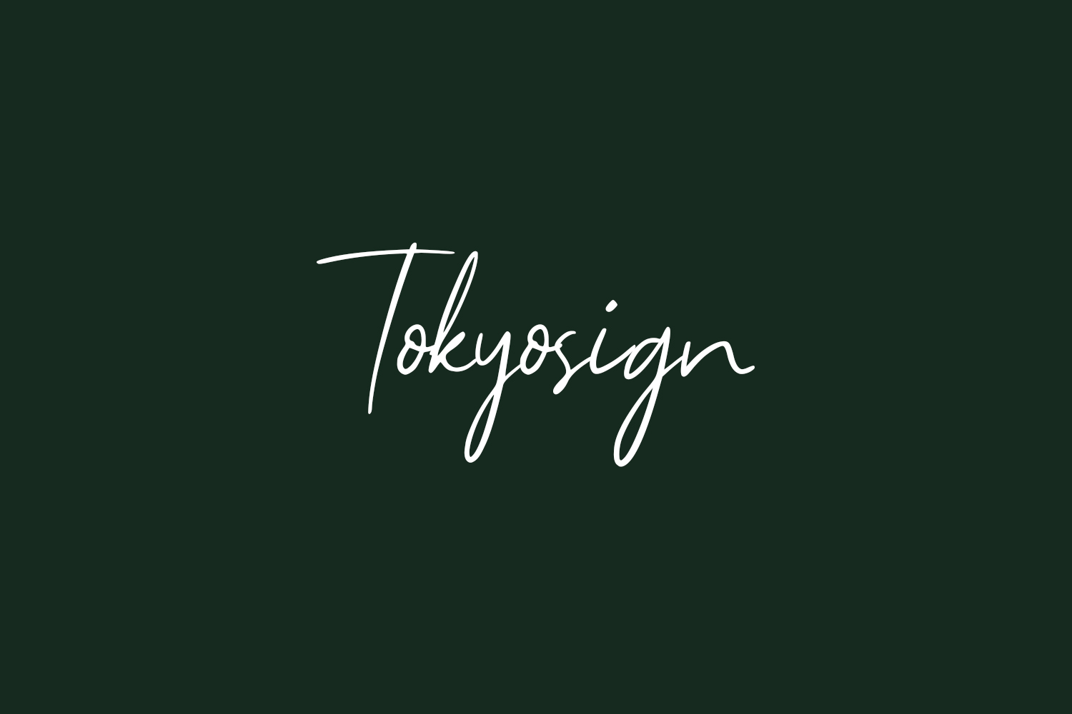 Tokyosign Free Font