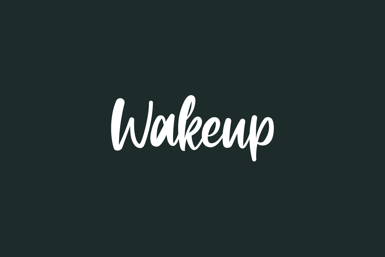 Wakeup Free Font