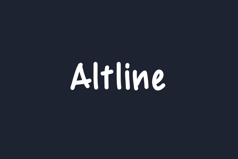 Altline Free Font
