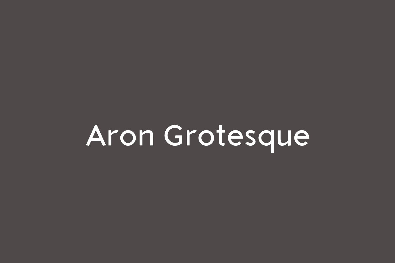 Aron Grotesque Free Font