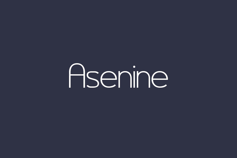 Asenine Free Font