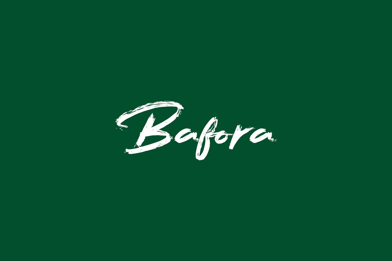 Bafora Free Font