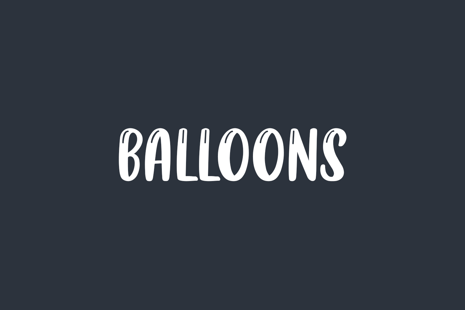 Balloons Free Font