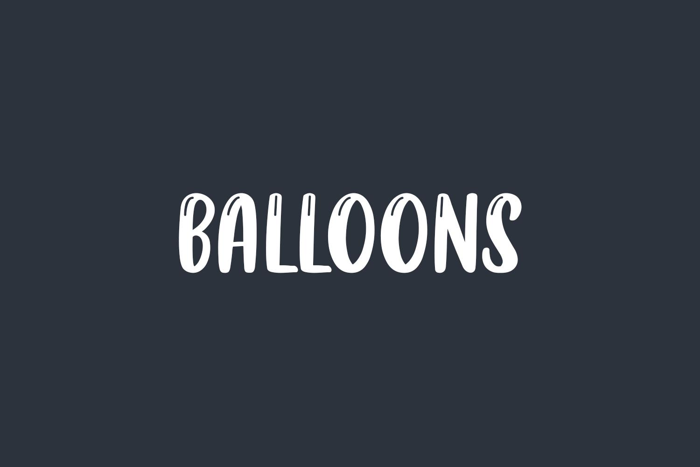 Balloons Free Font