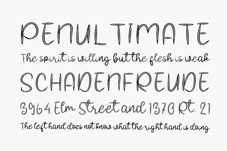 Beautiful Handmade Free Font
