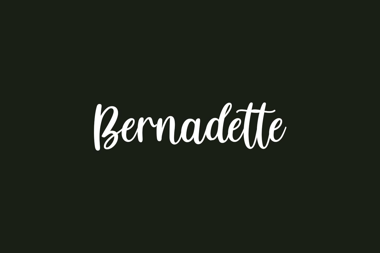 Bernadette Free Font