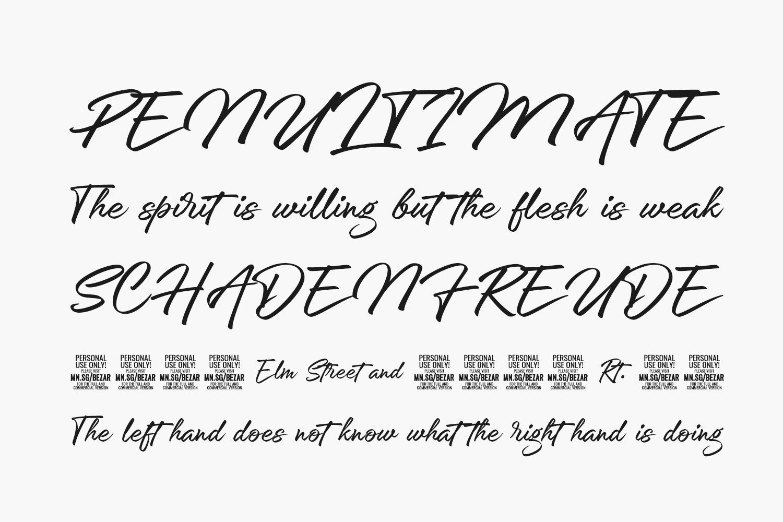 Bezar Free Font