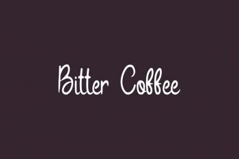 Bitter Coffee Free Font