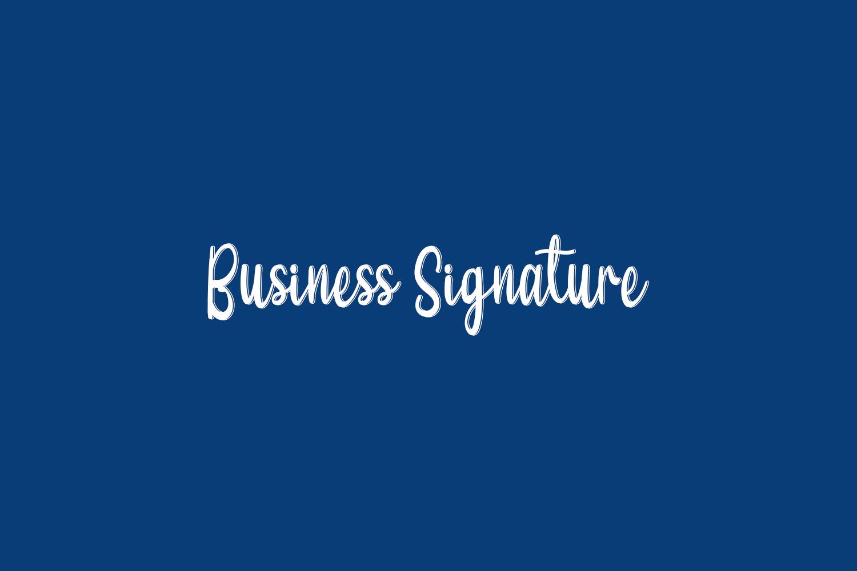 Business Signature Free Font