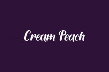 Cream Peach Free Font