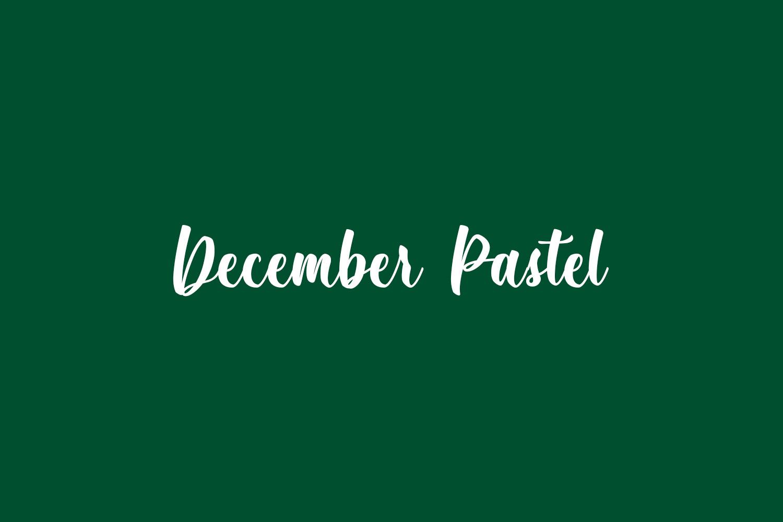 December Pastel Free Font