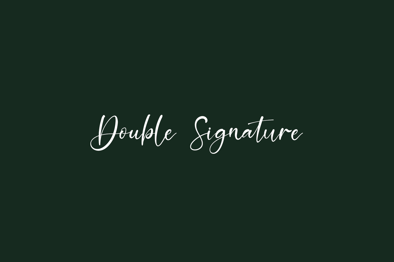Double Signature Free Font