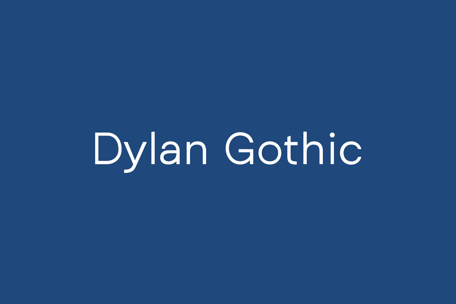 Dylan Gothic Free Font